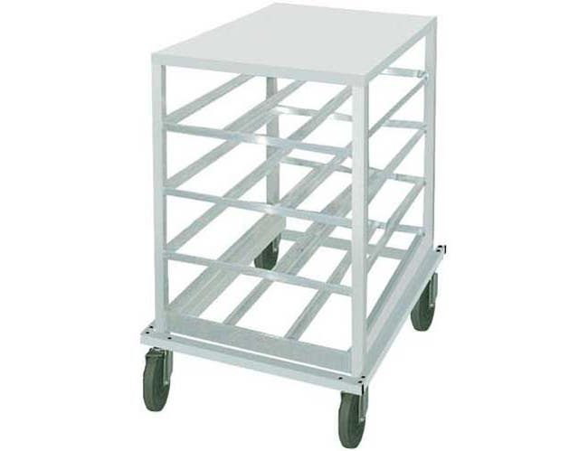 Heavy Duty Aluminum Top Mobile Can Rack - Half Size, Holds 54 #10 Size Cans Or 72 #5 Cans -- 1 each.