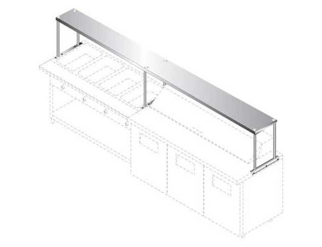 Advance Tabco Single Tier Stainless Steel Table Mounted Shelf, 18 x 9 Feet -- 1 each.