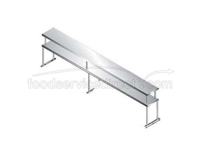 Stainless Steel Table Mounted Single Tier Shelving For Existing Table, Length 18 inch, Wide 9 Feet -- 1 each.