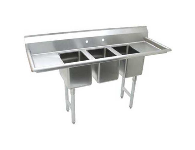 Stainless Steel Convenience Store Sink with 3 Compartment.Overall Length 60 inch -- 1 each.