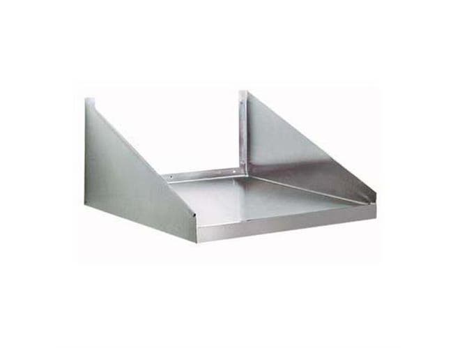 Stainless Steel Wall Mounted Microwave Shelf. Size: 24X24 inch -- 1 each.