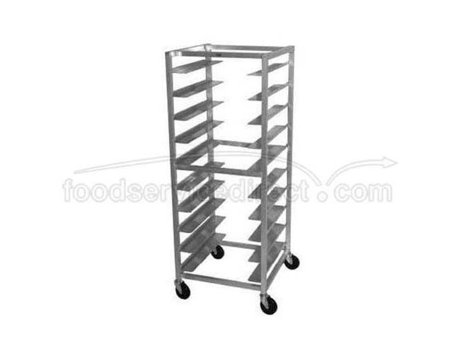 Aluminum Oval Tray Rack, 10 Pan Capacity 6 inch Shelf Spacing -- 1 each.