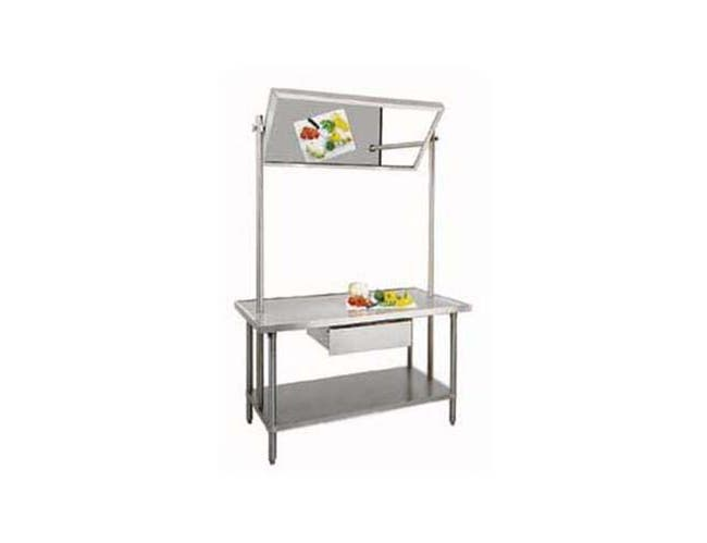 Stainless Steel Demo Table with Mirror. Size : 36 inch X 72 inch -- 1 each.