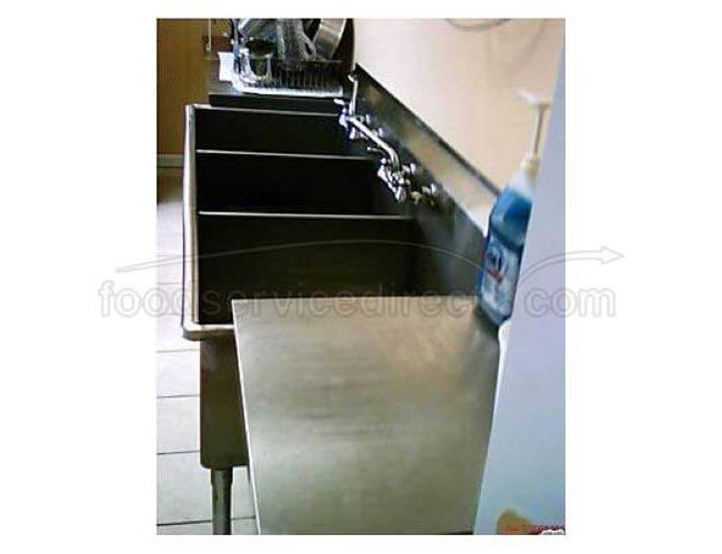 Aero 16 Gauge 430 Stainless Three Compartment Non NSF Sink, 60 x 27 x 42 inch -- 1 each.