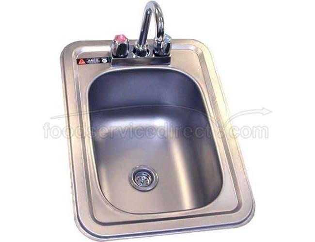 Aero 304 Stainless Steel NSF Hand Sink, 14 1/2 x 19 3/4 x 10 inch -- 1 each.