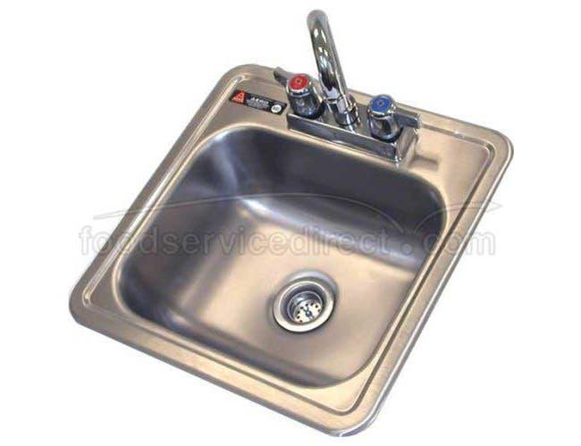 Aero 304 Stainless Steel NSF Hand Sink, 15 x 15 x 5 inch -- 1 each.