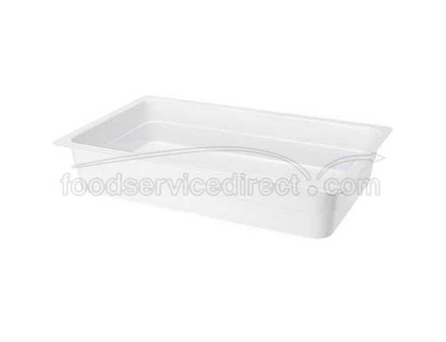 Black GET Enterprises inc Melamine Full Size Insert Food Pan, 13 x 21 inch -- 3 per case.