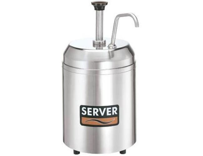 Server Countertop Chilled Cream Server with 2 3/4 Quart Holdcold Jar, 14.937 x 7.75 x 10.437 inch -- 1 each.