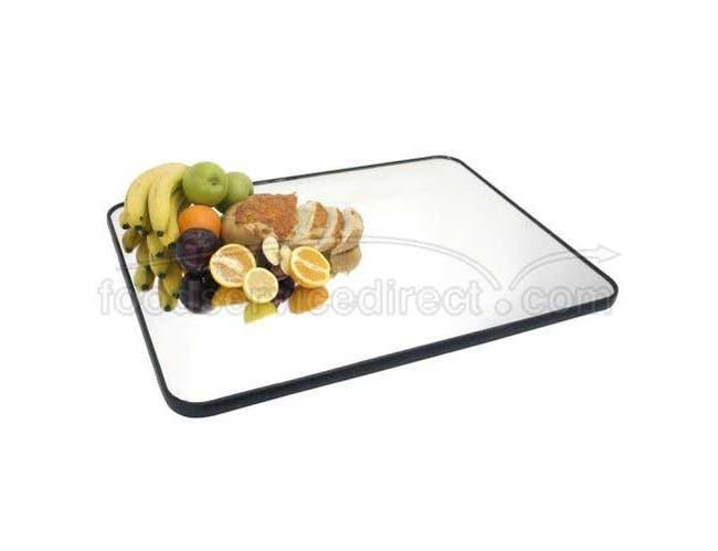 Buffet Enhancements Food Display Mirror Tray - Rectangular Rimmed, 32 x 24 inch -- 1 each.