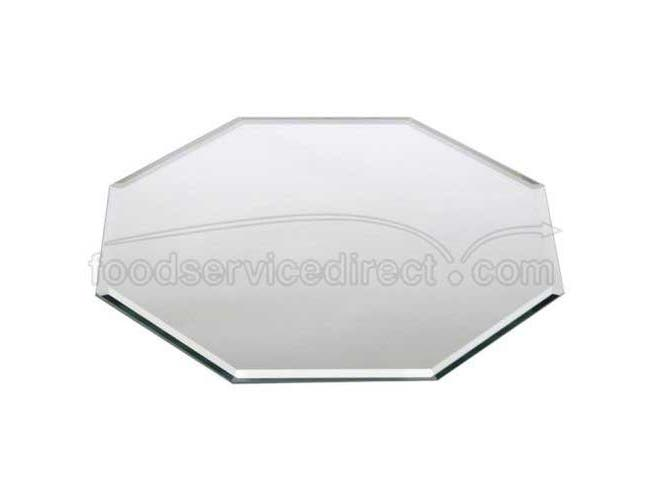 Buffet Enhancements Centerpiece Octagonal Beveled Glass Mirror, 14 inch -- 1 each.