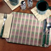 Hoffmaster 901-V5 Fashion-Casual Traditional Classic Weave - Printed Placemat 9.75 x 14 inch, Broadway Die Cut -- 1000 per case.