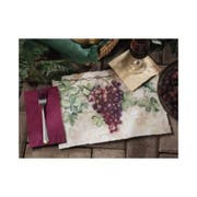 Hoffmaster 901-FD205 Fashion-Casual Elegant Tuscany Printed Placemat 9.75 x 14 inch, Burnt Edge Die Cut -- 1000 per case.