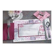 Hoffmaster 901-CC44 Fashion-Casual Floral Border 1Maroon Floral Printed Placemat 10 x 14 inch, Straight Edge Die Cut -- 1000 per case.