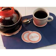 Hoffmaster 306 Specialty Sanitary Decaffined Coffee Coaster Budgetboard, 3.375 inch -- 1000 per case.