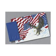 Hoffmaster 901-FD206 Fashion-Casual Interest Patriotic Flags Printed Placemat 9.75 x 14 inch, Straight Edge Die Cut -- 1000 per case.