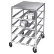 Channel Manufacturing Heavy Duty Aluminum Top Half Size Mobile Can Storage Rack, 43 x 25.75 x 35.25 inch -- 1 each.
