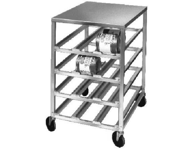 Channel Manufacturing Aluminum Half Size Mobile Can Storage Rack with Aluminum Top, 43 x 25 3/4 x 35 1/4 inch -- 1 each.