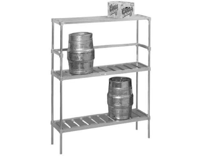 Channel Manufacturing Aluminum Keg Storage Knock Down Rack, 68 x 93 x 17 inch -- 1 each.