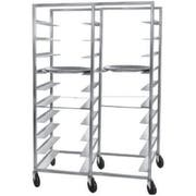 Channel Manufacturing Aluminum Double Section 8 inch Spacing Oval Tray Rack, 70 x 48 3/4 x 26 inch -- 1 each.
