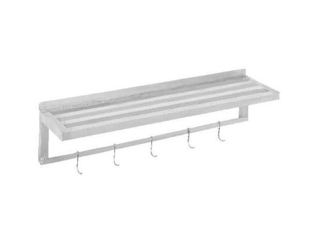 Channel Manufacturing Aluminum Tubular Wall Shelf, 36 x 18 inch -- 1 each.