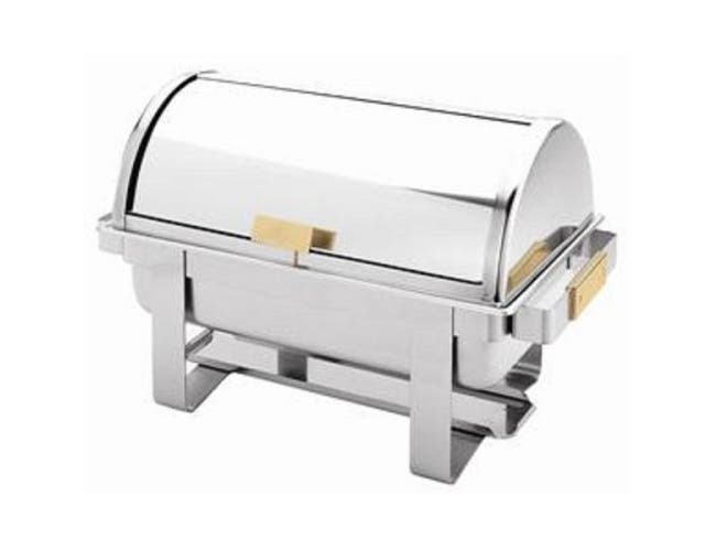 Thunder Group Stainless Steel Roll Top Chafer, 8 Quart -- 1 each.