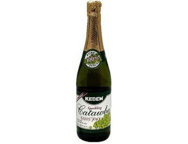 Kedem Catawba Grape Sparkling Juice, 25.4 Ounce -- 12 per case.