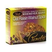 Pamelas Products Oat Raisin Walnut Spice Bar - 5 per pack -- 6 packs per case.