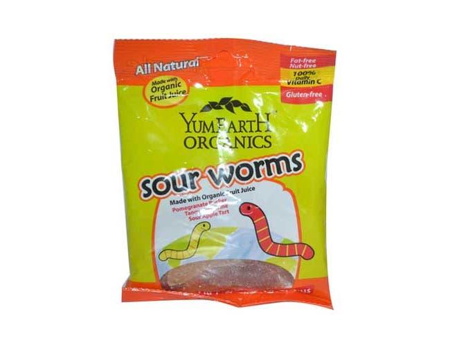 Yummy Earth Organic Sour Worm, 2.5 Ounce -- 12 per case.