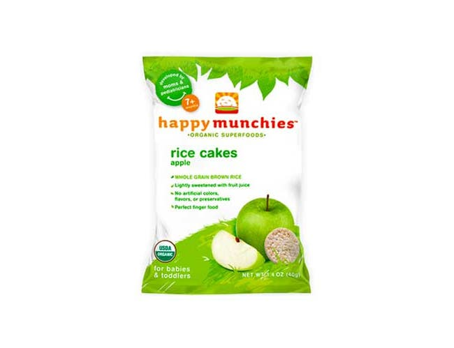Happy Munchies Apple Rice Cake Snack, 1.41 Ounce -- 10 per case.
