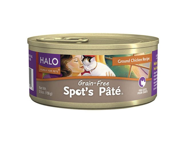 Halo Purely for Pets Chicken Spots Pate for Cat, 5.5 Ounce -- 12 per case.