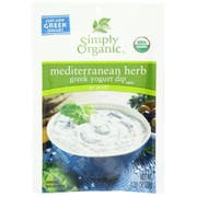 Simply Organic Mediterranean Herb Greek Yogurt Dip Mix, 1 Ounce -- 12 per case.