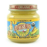 Earths Best 2nd Stage Organic Corn and Butternut Squash Vegetable, 4 Ounce -- 12 per case.
