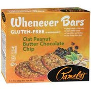 Pamelas Whenever Oat Peanut Butter Chocolate Chip Bar, 7.05 Ounce -- 6 per case.