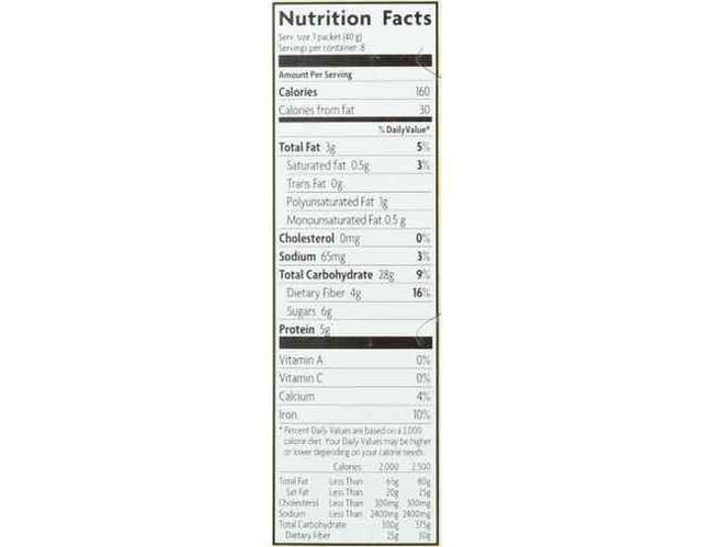 Natures Path Organic Pumpkin Spice with Chia Hot Oatmeal, 11.3 Ounce -- 6 per case.