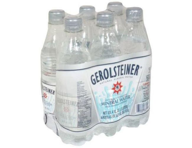 Gerolsteiner Sparkling Mineral Water, 16.9 Ounce - 6 per pack -- 4 packs per case.