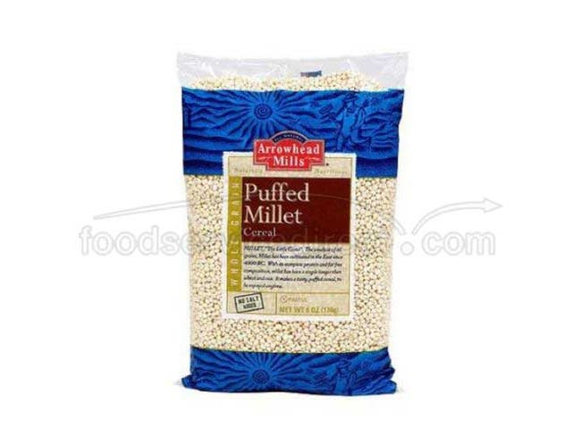 Arrowhead Mills Puffed Millet Cold Cereal, 6 Ounce -- 12 per case.