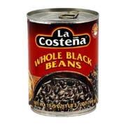 La Costena Whole Black Beans, 19.75 Ounce -- 12 per case.