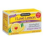 Bigelow I Love Lemon Herb Tea - 20 bag per pack -- 6 packs per case.