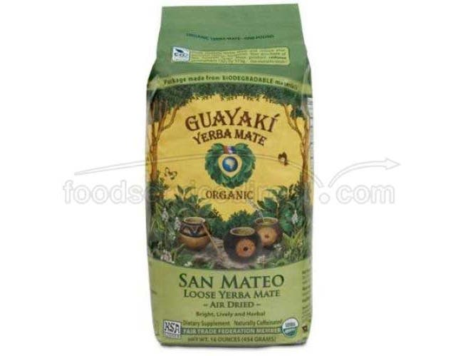 Guayaki Sustainable Rainforest Organic San Mateo Blend Loose Yerba Mate Tea, 16 Ounce -- 6 per case.