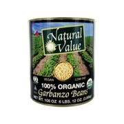 Natural Value Garbanzo Beans, 108 Ounce -- 6 per case.