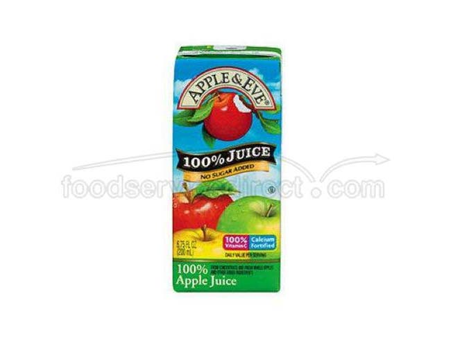 Apple and Eve Organic Apple Juice, 200 Milliliter -- 27 per case.