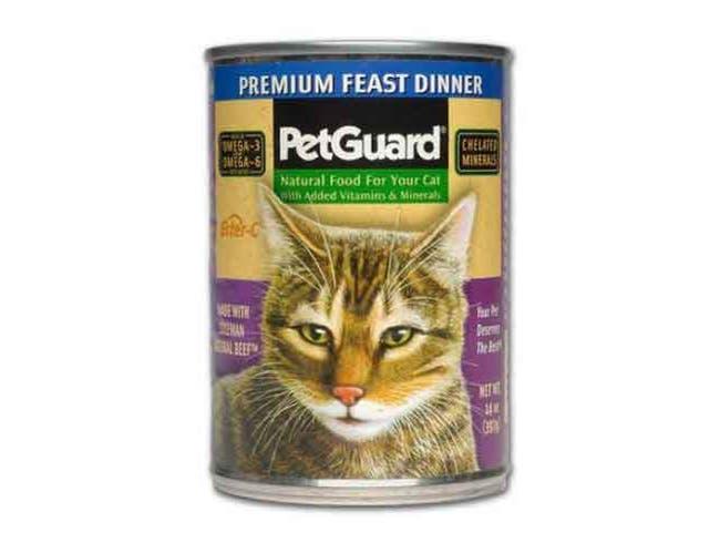Pet Guard Premium Feast Dinner Canned Cat Food, 13.2 Ounce -- 12 per case.