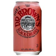 Dr Brown Black Cherry Diet Soda, 12 Ounce - 6 per pack -- 4 packs per case.