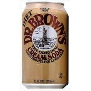 Dr Brown Cream Diet Soda, 12 Ounce - 6 per pack -- 4 packs per case.