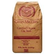 Grain Millers Organic Premium Fine Oat Bran, 50 Pound -- 1 each