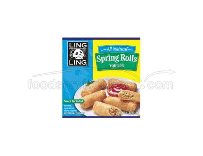 Ling Ling Mini Vegetable Spring Roll, 11 Ounce -- 9 per case.