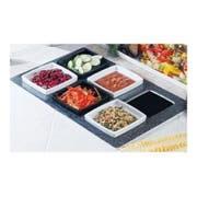 Black Granite Bon Chef Melamine Americana Tile for Two 53101, 53102 or 53103 Bowl, 20 13/16 x 12 3/4 inch -- 1 each.