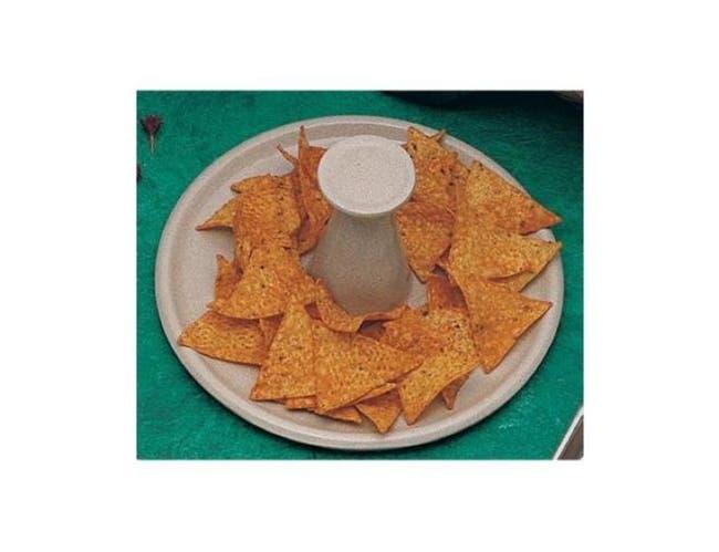 Bon Chef Nacho Pedestal Plate, 9 1/2 x 4 1/4 inch -- 1 each.