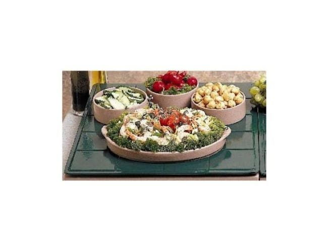 Black Bon Chef Sandstone One and Half Size Tile Tray, 19 1/2 x 21 1/2 inch -- 1 each.