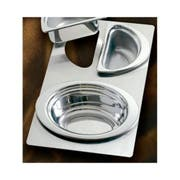 Bon Chef Stainless Steel Full Size Tile with Three Cutout for Number 5203 and 5202 Pan, 13 1/8 x 21 1/2 inch -- 1 each.